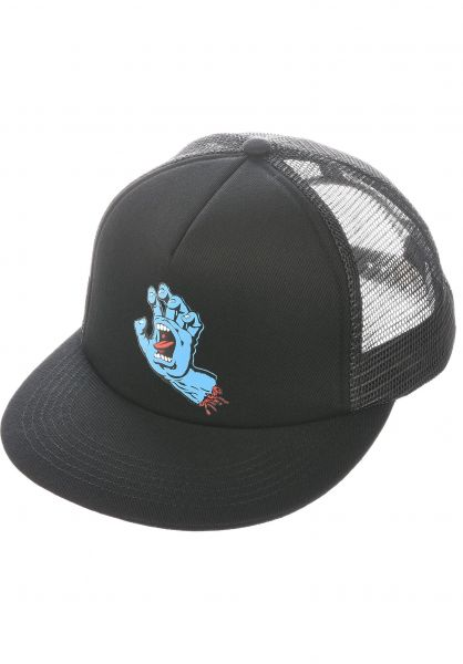 Santa-Cruz Caps Screaming Hand Mesh black-black vorderansicht 0566770