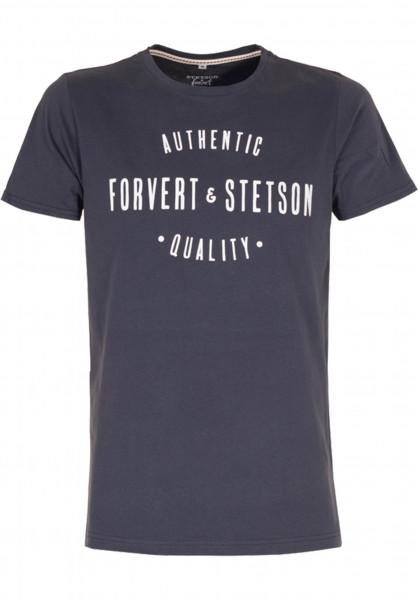 Forvert T-Shirts Stetson und Forvert navy Vorderansicht