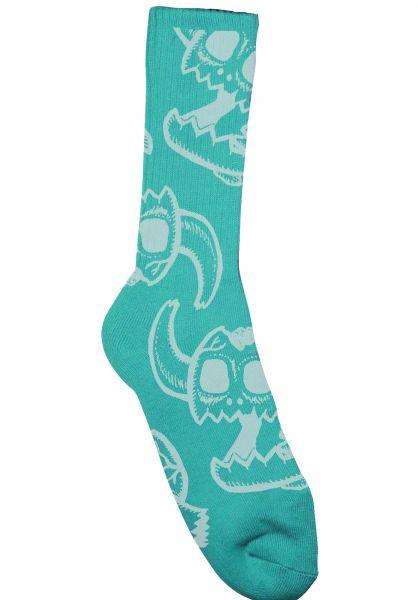 Toy-Machine Socken Monster Skull aqua vorderansicht 0631604