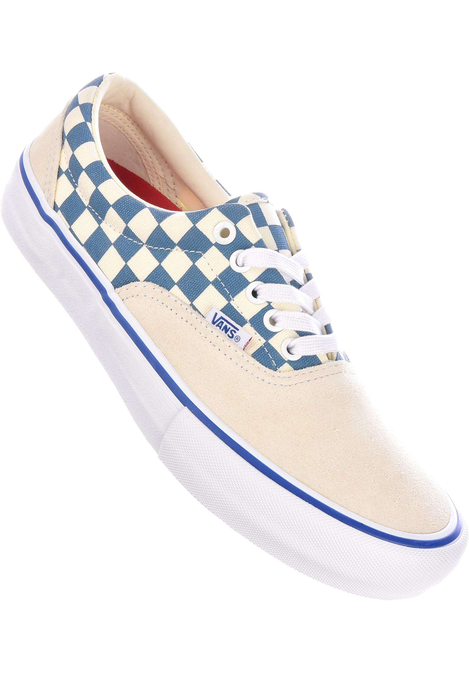 9b8d1ae2ff1a8c Era Pro Vans All Shoes in checker-white-blueashes for Men