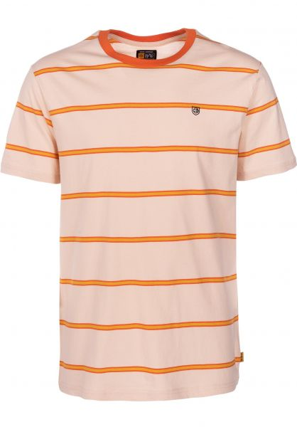 Brixton T-Shirts x Independent Deputy orange-tan vorderansicht 0399871