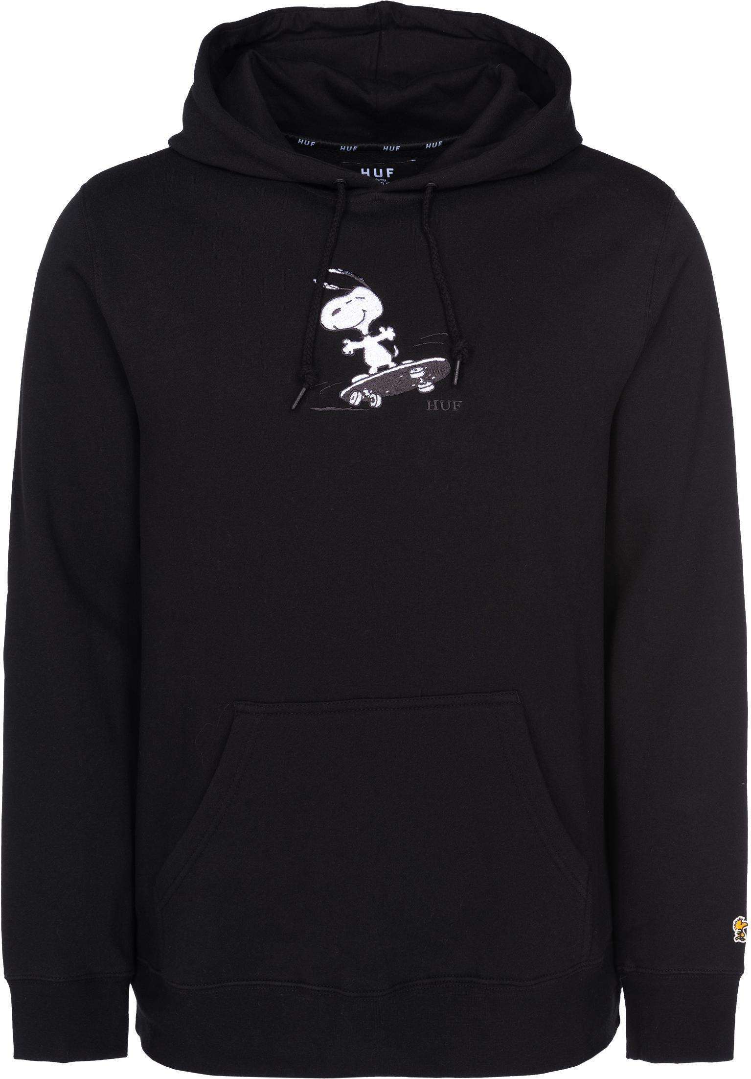 647182fa0a x Peanuts Snoopy Skates HUF Hoodies in black voor Heren