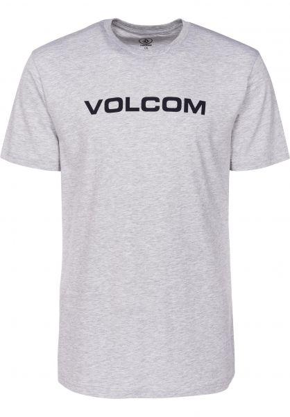 Volcom T-Shirts Crisp Euro heathergrey Vorderansicht