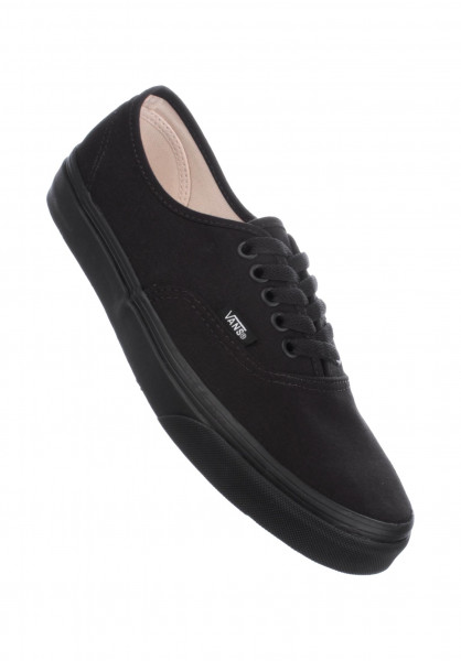 vans authentic black dames