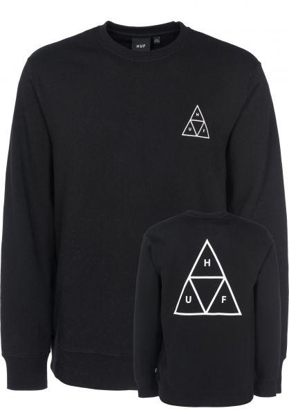HUF Sweatshirts und Pullover Triple Triangle black Vorderansicht