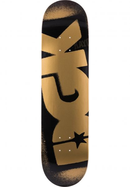 DGK Skateboard Decks Price Point black-gold Vorderansicht