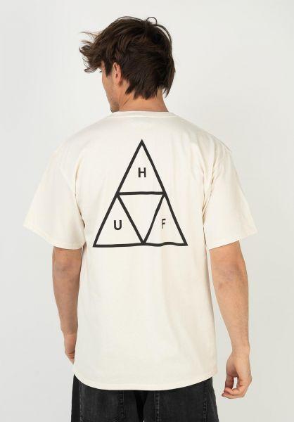 HUF T-Shirts Triple Triangle natural vorderansicht 0390861