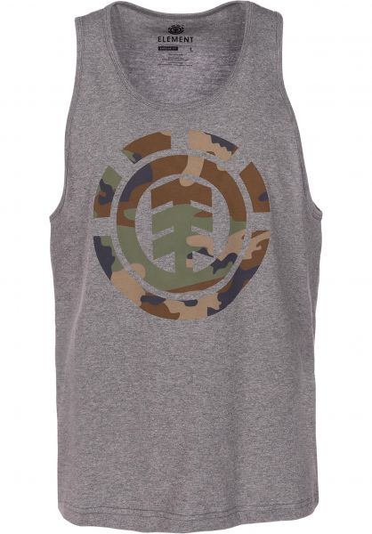 Element Tank-Tops Foundation Icon greyheather vorderansicht 0137880