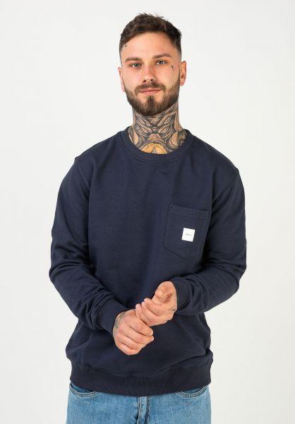 Makia Sweatshirts und Pullover Square Pocket darkblue vorderansicht 0422690