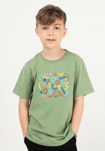 TITUS T-Shirts Shapes Kids green-acidwashed vorderansicht 0322071