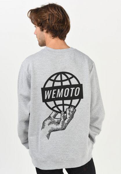 Wemoto Sweatshirts und Pullover World Crew heather vorderansicht 0423012