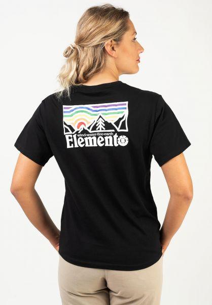 Element T-Shirts Landscape black vorderansicht 0322225