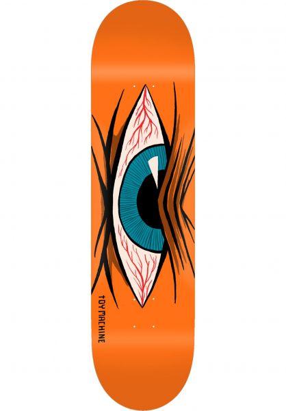 Toy-Machine Skateboard Decks Mad Eye orange vorderansicht 0264483