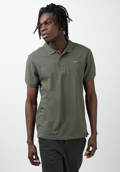 Rules Polo-Shirts Maik olive vorderansicht 0138302