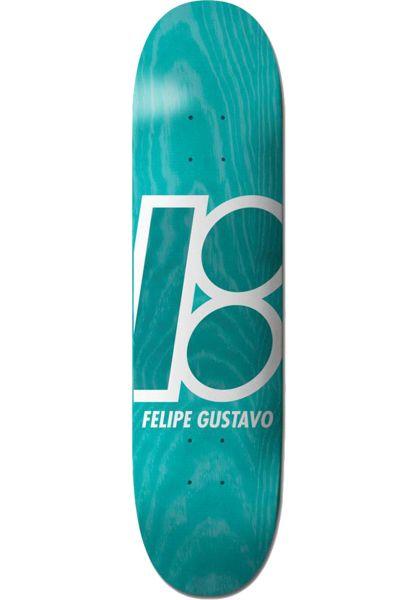 Plan-B Skateboard Decks Felipe Stained lightblue vorderansicht 0260573
