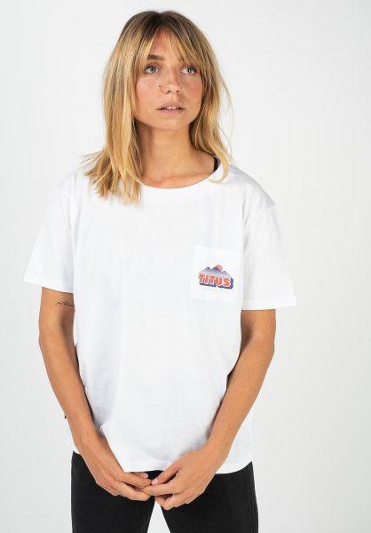 TITUS T-Shirts Elia white vorderansicht 0320926