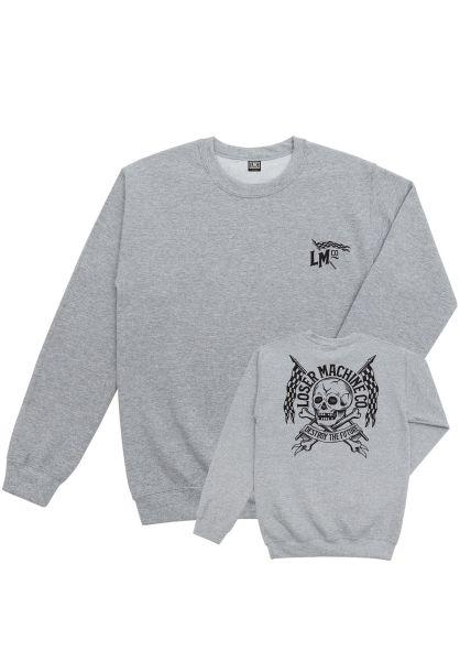 Loser-Machine Sweatshirts und Pullover Stuntman heathergrey vorderansicht 0422647
