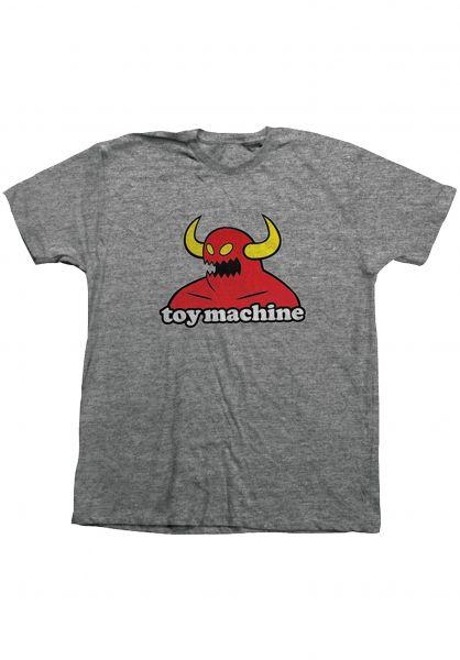 Toy-Machine T-Shirts Monster greymottled vorderansicht 0360310