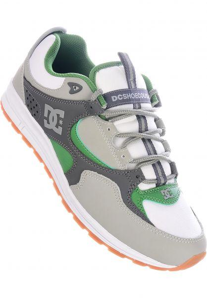 DC Shoes Alle Schuhe Kalis Lite grey-white-green vorderansicht 0603876