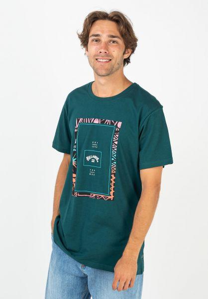Billabong T-Shirts Tucked deepteal vorderansicht 0399905