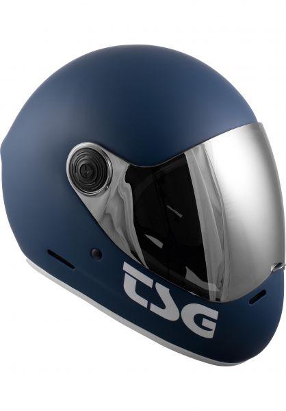 TSG Fullface-Helme Pass Solid Color matt blue vorderansicht 0750086