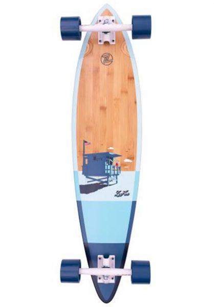 "Z-Flex Longboards komplett Bamboo Pintail 38"" blue vorderansicht 0194416"