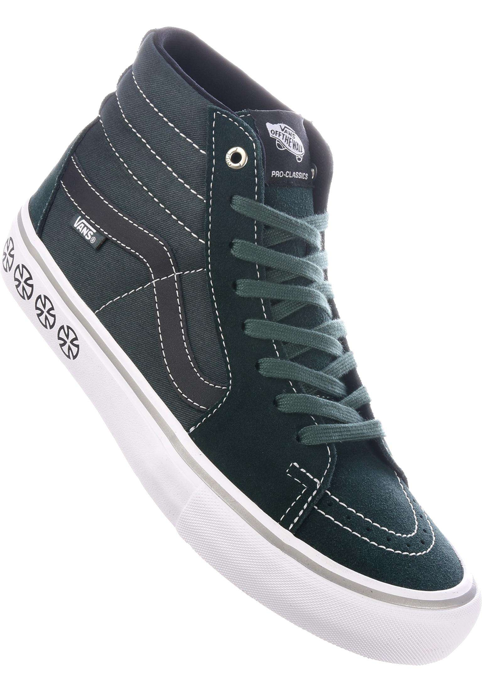 28996cbf0ee2 Sk8-Hi Pro x Independent Vans All Shoes in independent-spruce for Men