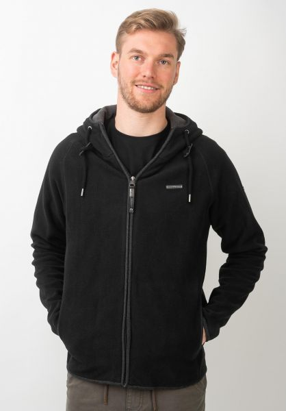 Ragwear Zip-Hoodies Fleecy black vorderansicht 0454811
