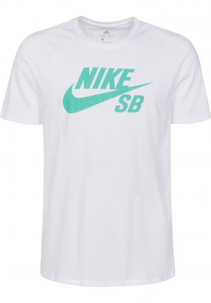 Nike SB T-Shirts DFT Icon Logo white-menta Vorderansicht
