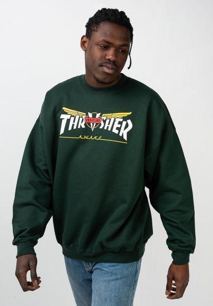 Thrasher Sweatshirts und Pullover Venture Collab forestgreen vorderansicht 0445782