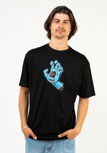 Santa-Cruz T-Shirts Screaming Hand black vorderansicht 0378479