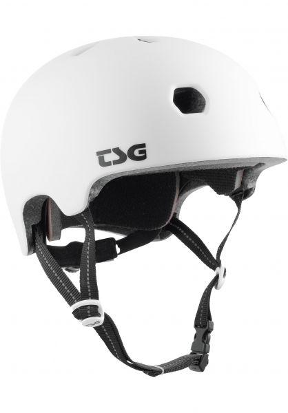 TSG Helme Meta Solid Color satin white vorderansicht 0750123