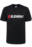 Element-T-Shirts-Blazin-flintblack-Vorderansicht