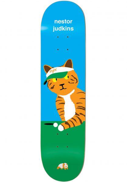 Enjoi Skateboard Decks Judkins Pussy Magnet R7 blue Vorderansicht