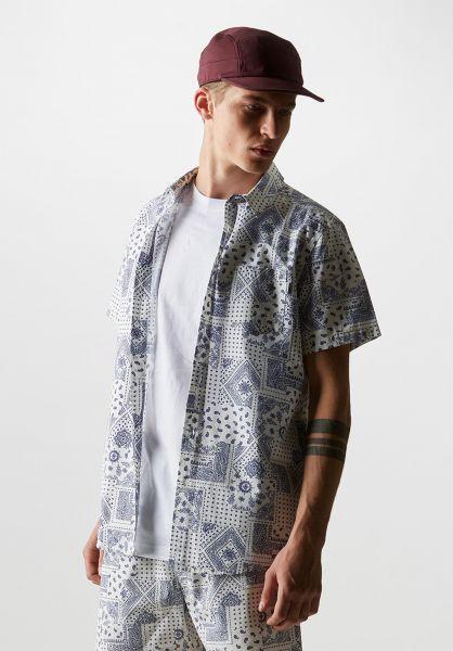 Wemoto Hemden kurzarm Paisley offwhite vorderansicht 0400867