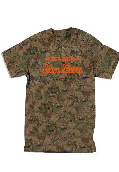 Skate-Mental T-Shirts Slam Beers camo vorderansicht 0320300