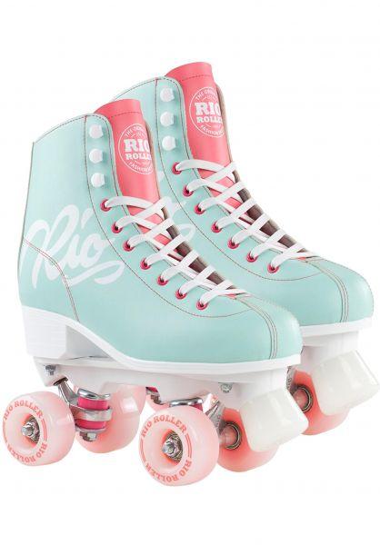 Rio Roller Alle Schuhe Script Rollschuhe / Rollerskates teal-coral vorderansicht 0612554