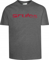Rules T-Shirts Basic greymottled-red Vorderansicht