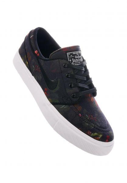 cbafb11c155cf Nike SB Alle Schuhe Zoom Stefan Janoski Wmn multicolor-blackwhitegum-lightbrown  Vorderansicht