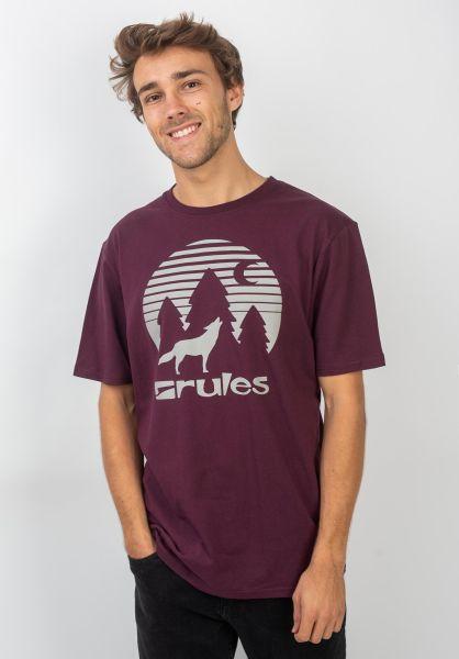 Rules T-Shirts Lone Wolf darkburgundy vorderansicht 0399282