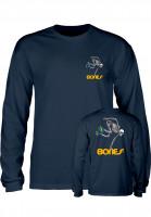 Powell-Peralta Longsleeves Skateboard Skeleton navy Vorderansicht