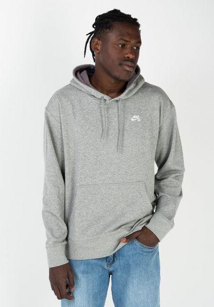 Nike SB Hoodies Small Icon darkgreyheather-white vorderansicht 0445830