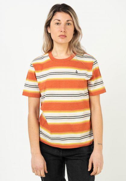 Volcom T-Shirts Site Linez rust vorderansicht 0322925