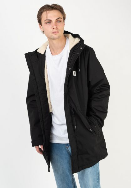 Element Winterjacken Field Parka flintblack vorderansicht 0250276