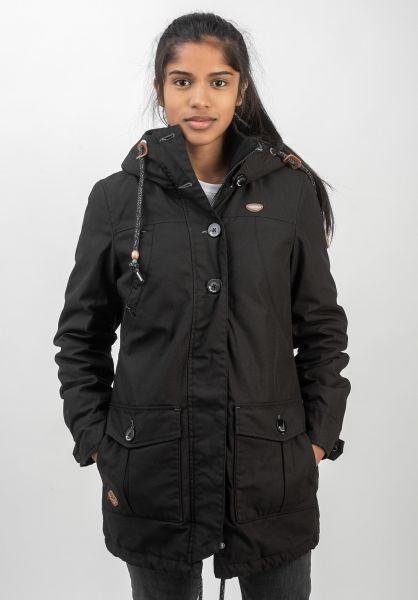 Ragwear Winterjacken Jane black vorderansicht 0250087