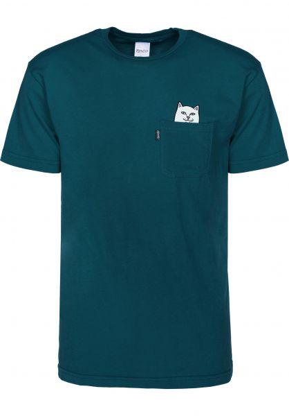Rip N Dip T-Shirts Lord Nermal Pocket aqua vorderansicht 0393476