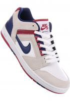 Nike SB Alle Schuhe Air Force II Low white-bluevoid Vorderansicht