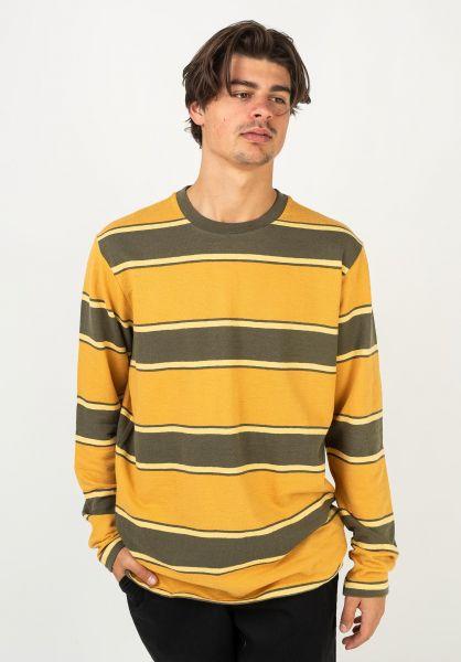 RVCA Longsleeves Reducer Stripe sequoiagreen vorderansicht 0383796
