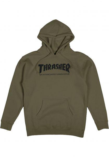 Thrasher Hoodies Skate-Mag army vorderansicht 0440766