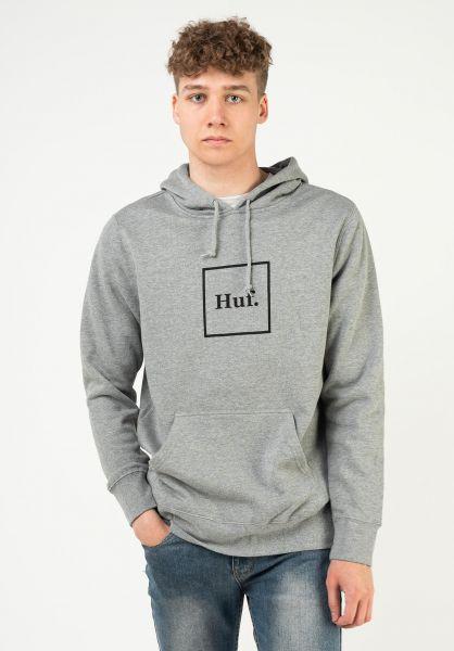HUF Hoodies Box Logo greyheather vorderansicht 0444753